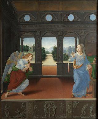 Lorenzo di Credi, The Annunciation, c. 1490. Panel 88 x 71 cm, Florence, Galleria degli Uffizi © Florence, Gabinetto Fotografico delle Gallerie degli Uffizi