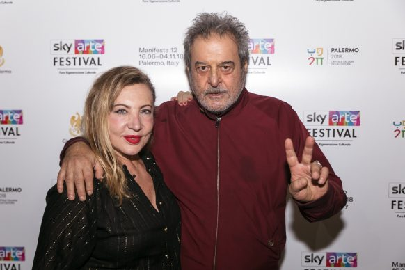 Iaia Forte ed Ennio Fantastichini, Sky Arte Festival Palermo, ottobre 2018