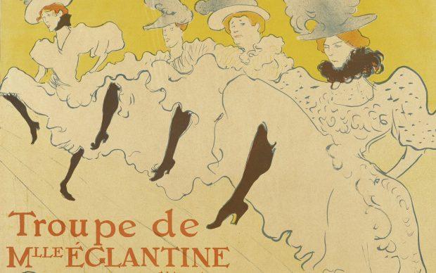 Henri de Toulouse-Lautrec, Troupe de Mlle Églantine, 1895-96, fonte Wikipedia