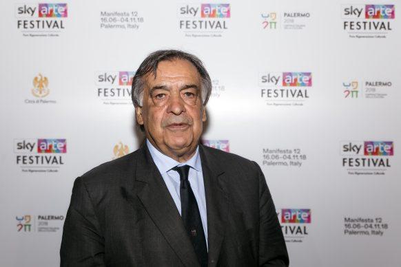Leoluca Orlando, sindaco di Palermo, Sky Arte Festival Palermo, ottobre 2018