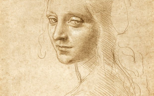 Leonardo da Vinci, Testa di spalle di una giovane donna