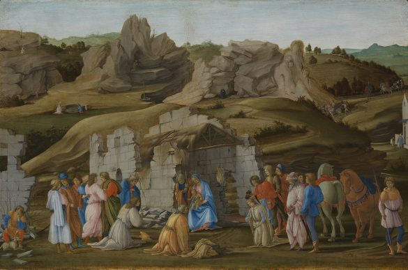 Filippino Lippi, The Adoration of the Magi, c. 1475/80. Panel 57,5 x 85,7 cm, London, The National Gallery © The National Gallery, London