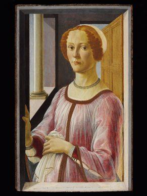 Sandro Botticelli, Portrait of a Woman (Smeralda Brandini?), 1470-1475. Panel 65,7 x 41 cm, London, Victoria and Albert Museum © Victoria and Albert Museum, London