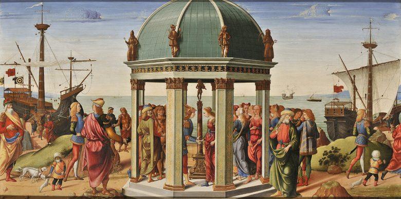 Biagio d'Antonio, The Betrothal of Jason and Medea, 1487. Panel 79 x 160 cm. Paris, Musée des Arts décoratifs © Paris, Musée Arts Décoratifs, musée des Arts décoratifs