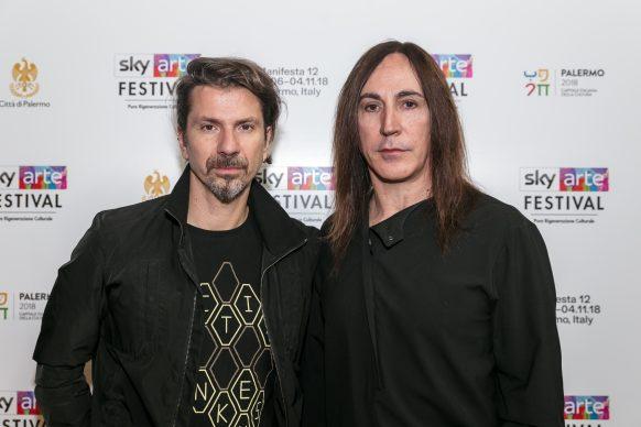 Rodrigo d'Erasmo e Manuel Agnelli, Sky Arte Festival Palermo, ottobre 2018
