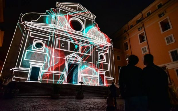 Solid Light Roma mapping architettonico