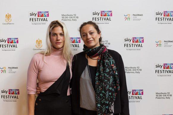 Tea Falco e Isabella Arnaud, Sky Arte Festival Palermo, ottobre 2018