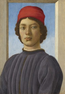 Filippino Lippi, Portrait of a Young Man, c. 1480/85. Panel 52,1 x 36,5 cm, Washington, National Gallery of Art, Andrew W. Mellon Collection © Courtesy National Gallery of Art, Washington, Andrew W. Mellon Collection