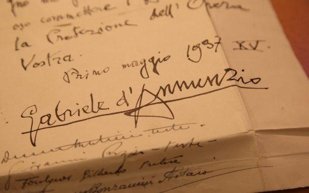 testamento d'annunzio firma