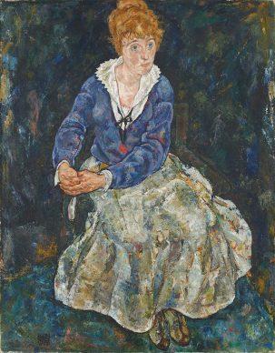Egon Schiele, Wife of the artist Edith Schiele, 1917/18. Photo: Johannes Stoll © Belvedere, Vienna