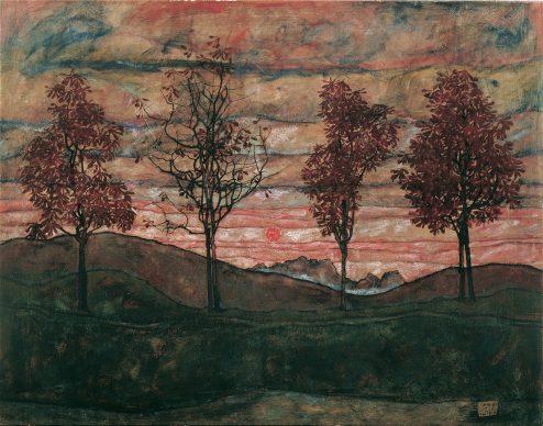 Egon Schiele, Four Trees, 1917 © Belvedere, Vienna Oil on canvas, 110 × 140 cm