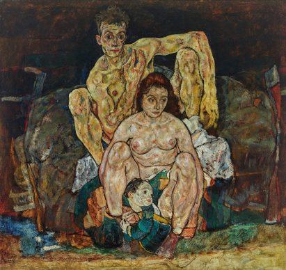 Egon Schiele, Squatting Couple (The Family), 1918. Photo: Johannes Stoll © Belvedere, Vienna