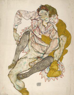 Egon Schiele, Seated Couple, 1915 © Albertina, Vienna