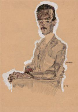 Egon Schiele, Portrait of Eduard Kosmack, Seated, 1910 © Albertina, Vienna