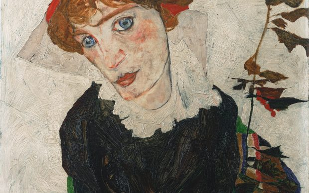 Egon Schiele, Portrait of Wally Neuzil, 1912 © Photograph Leopold Museum, Vienna/Manfred Thumberger oil on wood, 32 x 39,8 cm