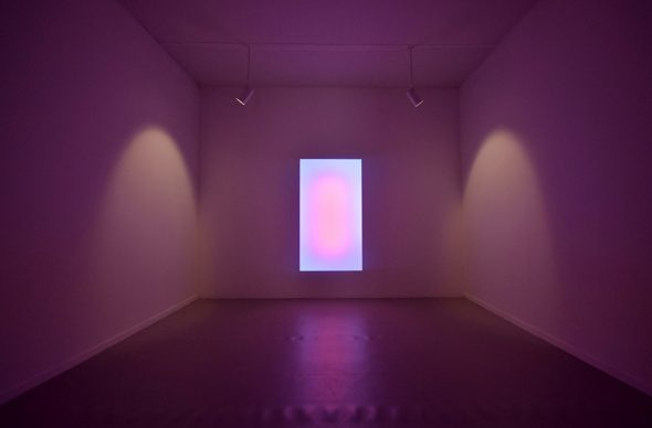James Turrell, Sensing Thought, 2005. Wood, plexiglass volume, computerized neon. Courtesy Pace e Pace Gallery