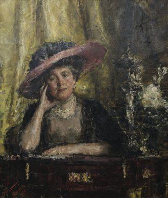 Antonio Mancini, Lady Phillips, 1909, olio su tela, cm 90, 1 x 76,5