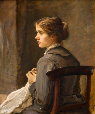 John Everett Millais, Stich! Stich!, 1876, olio su tela, cm 74,4 x 62