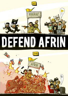 Defend Afrin, 2018, Courtesy Zerocalcare