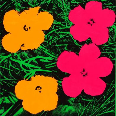 Andy Warhol, Flowers,1964.  The  Art  Institute  of Chicago;  gift of  Edlis/Nee son  Collection,  2015.123 © The Andy Warhol Foundation for the Visual Arts, Inc. / Artists Rights Society (ARS) New York