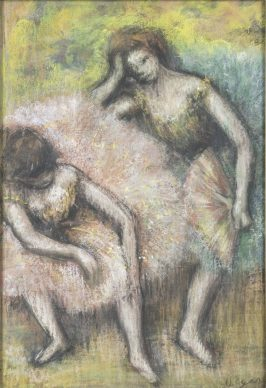 Edgar Degas, Due ballerine, 1898, pastello su carta, cm 50 x35