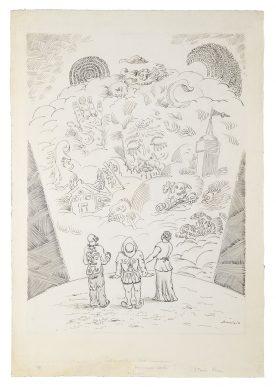"""Mostra """"Chi ha paura del disegno? Opere su carta del '900 italiano dalla Collezione Ramo"""" - A. Savinio, I sogni, 1942 - Courtesy Comune di Milano"""