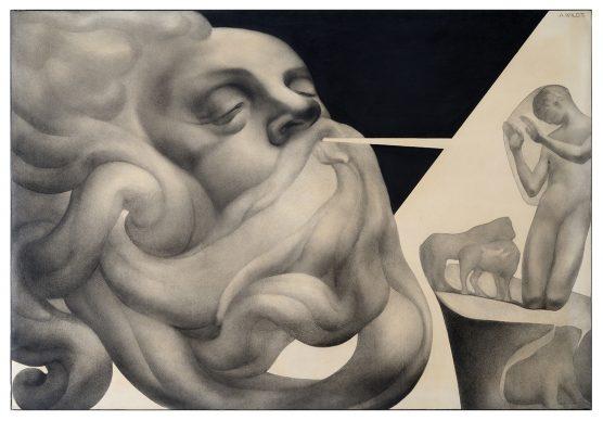 """Mostra """"Chi ha paura del disegno? Opere su carta del '900 italiano dalla Collezione Ramo"""" - Wildt, Anumatium rex homo, 1925 - Courtesy Comune di Milano"""