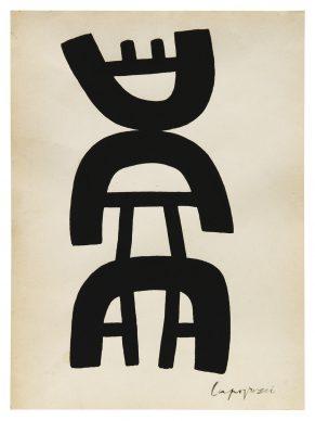 """Mostra """"Chi ha paura del disegno? Opere su carta del '900 italiano dalla Collezione Ramo"""" - Capogrossi, 1958-62 - Courtesy Comune di Milano"""