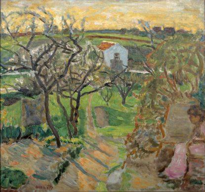 Pierre Bonnard, Tramonto primaverile, 1909, olio su tela, cm 59,2 x 62,2