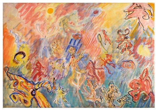 """Mostra """"Chi ha paura del disegno? Opere su carta del '900 italiano dalla Collezione Ramo""""  - Tancredi, Facezie, 1960 - Courtesy Comune di Milano"""