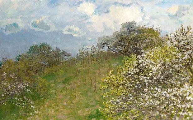 Claude Monet, Primavera, 1875, olio su tela, cm 58 x 78,5