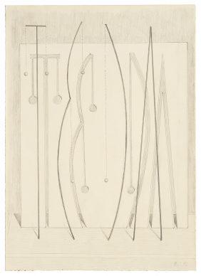 """Mostra """"Chi ha paura del disegno? Opere su carta del '900 italiano dalla Collezione Ramo"""" - Melotti, 1968 - Courtesy Comune di Milano"""