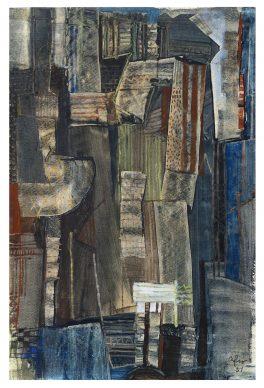 """Mostra """"Chi ha paura del disegno? Opere su carta del '900 italiano dalla Collezione Ramo"""" - Afro, st. recto,1951 - Courtesy Comune di Milano"""