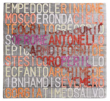 """Mostra """"Chi ha paura del disegno? Opere su carta del '900 italiano dalla Collezione Ramo"""" - Salvo, 20 siciliani recto, 1976 - Courtesy Comune di Milano"""