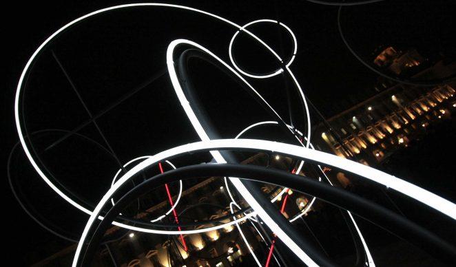 Torino, Luci d'Artista. Nella foto: Tobias Rehberger, My noon