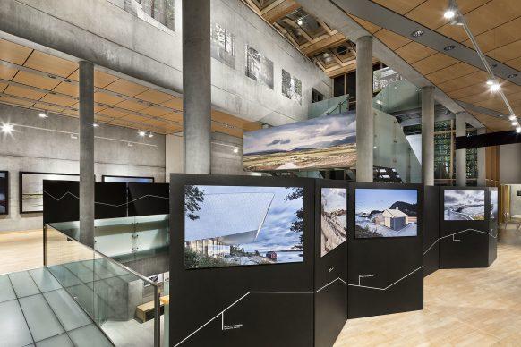 Exhibition view. Looking up from the first to the second floor.  Photo credit: © Ken Schluchtmann -  diephotodesigner.de