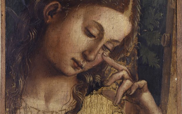 Luca Signorelli (Cortona, 1450 ca. - 1523) Santa Maria Maddalena piangente, 1504-1505 Olio su tavola Frammento della pala realizzata per Matelica. Dall'eredità di Pelagio Palagi, 1860 Bologna, Collezioni Comunali d'Arte Courtesy Istituzione Bologna Musei