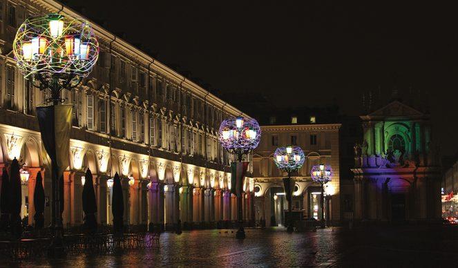 Torino, Luci d'Artista. Nicola De Maria, Regno dei fiori ... © - www.comune.torino.it - foto di Mauro Donato