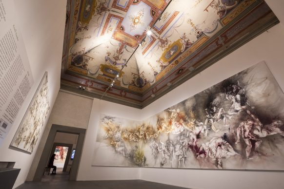 Exhibition view of Flora Commedia: Cai Guo-Qiang at the Uffizi, Florence, 2018 - Photo by Wen-You Cai, courtesy Cai Studio