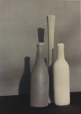 Umberto Bonfini, Studio Morandi n°5, s.d. (1967), stampa da negativo DOP (developing out paper),  Collezione Claudio Spottl