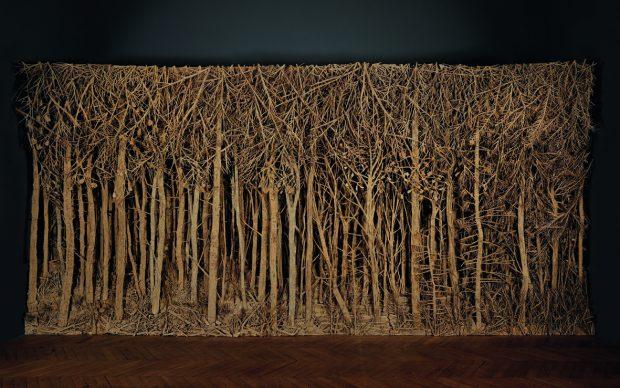 Carte blanche à Eva Jospin, Manufacture des Gobelins, Parigi, 2013, Cartone, legno, colla, cm 760 x 350 x 45