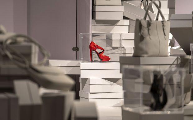 I'm not Cinderella, T Fondaco dei Tedeschi, Venezia, mostra scarpe femminili tacco