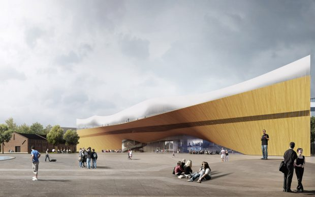 Helsinki Central Library by ALA - main square © ALA Architects