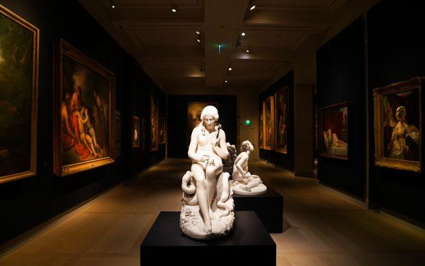 Romanticismo, sezione PITTURA SACRA. UNA SPIRUTUALITÀ INTERIORE, veduta dell'allestimento presso Gallerie d'Italia, Milano. Foto by Alessandro Cervetti