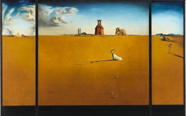 Salvador Dalí: Landscape with a Girl Skipping Rope, 1936 Museum Boijmans Van Beuningen, Rotterdam, photo Studio Tromp © Salvador Dalí, Fundacio Gala Salvador Dalí, by SIAE 2018