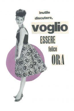 Maria Grazie Preda, Inutile discutere - Mostra Collage Vintage