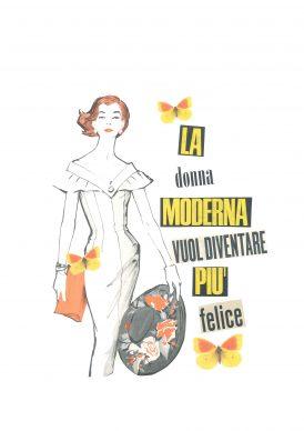 Maria Grazie Preda, La donna moderna vuole diventare più felice - Mostra Collage Vintage