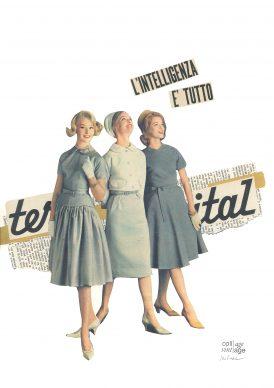 Maria Grazie Preda, L'intelligenza è tutto - Mostra Collage Vintage