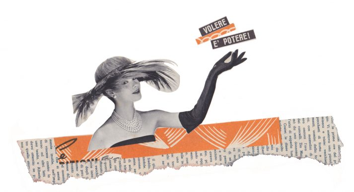 Maria Grazie Preda, Volere è potere - Mostra Collage Vintage