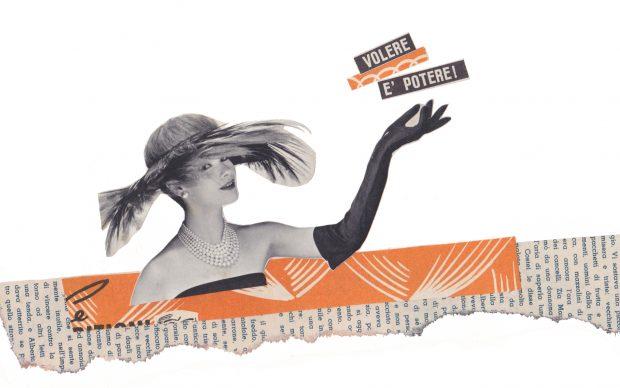 Maria Grazia Preda, Volere è potere, collage